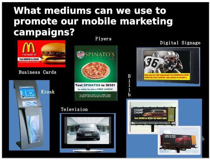 Mobile Marketing Promotion Examples